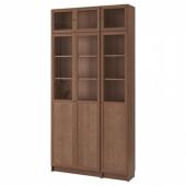 БИЛЛИ / ОКСБЕРГ Стеллаж, коричневый ясеневый шпон, 120x30x237 см