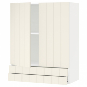 МЕТОД / МАКСИМЕРА Навесной шкаф/2дверцы/2ящика, белый, Хитарп белый с оттенком, 80x100 см