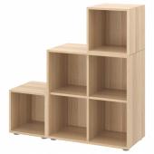 ЭКЕТ Комбинация шкафов с ножками, под беленый дуб, 105x35x107 см