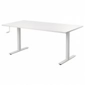 СКАРСТА Стол/трансф, белый, 160x80 см